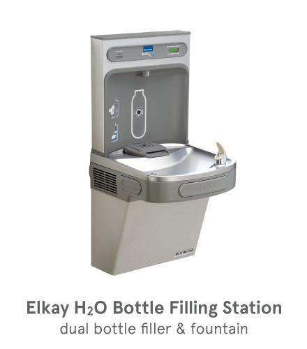 Elkay Water Fountain and Bottle Filling Station