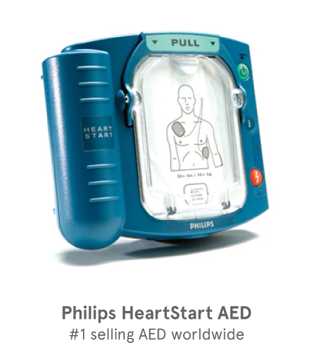 Philips Heart Start Onsite AED with Slim Carry Case and non-alarm Cabinet