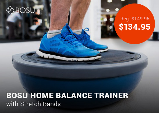 BOSU Home Balance Trainer with Stretch Bands