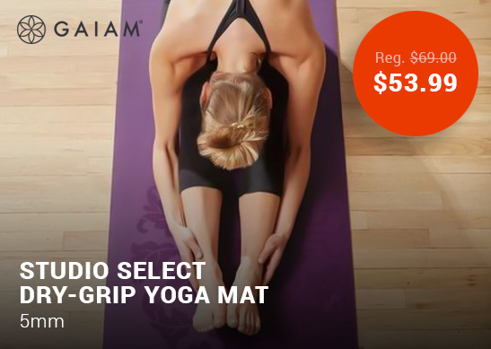 Gaiam Studio Select Dry-Grip Yoga Mat (5mm)