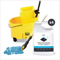 Zogics Rubber Floor Cleaning Bundle
