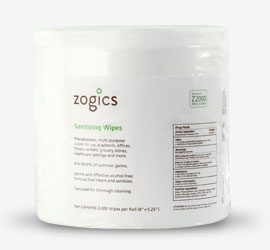 Zogics Sanitizing Gym Wipes