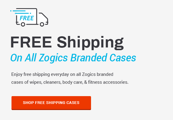 Zogics Free Shipping Promotions - Free Shipping on all Zogics branded cases
