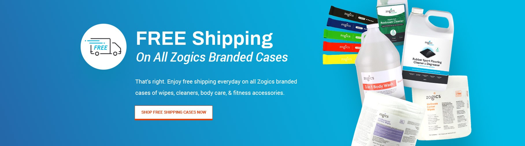 Free Shipping on all Zogics branded cases
