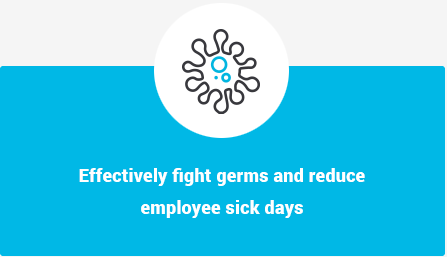 Effectively fight germs and reduce employee sick days